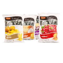 As microplaquetas de batata salgadas ensacam / empacotamento plástico do petisco do saco do petisco / microplaquetas de batata