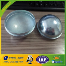 Galvanized pipe end cap protection