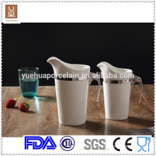 1000ml/650ml 2pcs different size porcelain insualted milk jug wholesale
