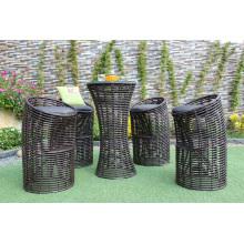 Stylish Einzigartiges Design Synthetisches PE Rattan Bar Set Für Outdoor Garten Patio Wicker Möbel