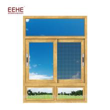 Раздвижное окно из алюминиевого сплава с москитной сеткой