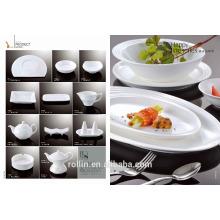 China fornecedor atacado hotel restaurante branco barato porcelana cerâmica placa