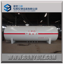 Горизонтальный резервуар для хранения LPG 25000L, резервуар хранения газа