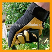 Heavy Duty Soft Touch Cow Grain Leather Ladies Jardinería Guantes