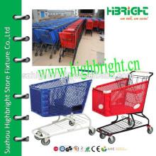 supermarket plastic trolley cart