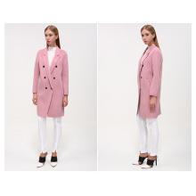 Purple Color New Design Winter Long Warm Coat for Women