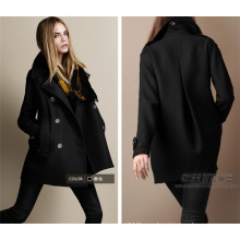 New Arrival Winter Overcoat Women Fashion Orange Woolen Coat
