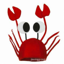 Christmas Ornament with Very Funny Red Crab Christmas Hat Gift for Women/Men/Decoration Ornament