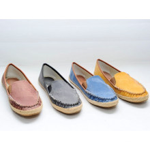 Chaussures à chaussures en toile TPR confortables en gros chaussures à glissière