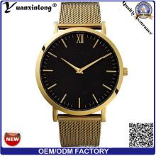 Yxl-281 Good Quality Mesh correa de acero reloj reloj de pulsera de lujo de los hombres de la manera personalizada reloj de promoción de diseño hombres