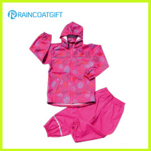 Rum-025 Waterproof 3000 Children PU Rainsuit
