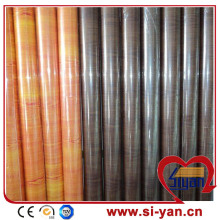 Wood grain high gloss pvc film