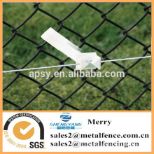 Vinyl coated decorative chain link cyclone wire fence