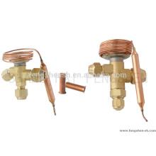 Válvula de expansión termostática para compresor