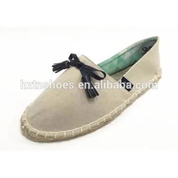 Soft casual shoe horsehair good quality women shoe espadrille
