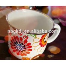 nuevo regalo promocional impreso de la taza de café del esmalte