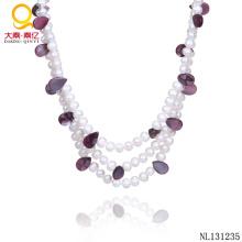Dernier collier de perles de conception Bijoux en perles d'eau douce
