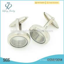 Nova chegada de aço inoxidável jóias abotoadura camisa de prata