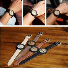 Yxl-465 2016 Vogue Japan Quartz Movement Wrist Watches Wooden Conlor Face Watch Leather Sport Ladies Watch Wholesale