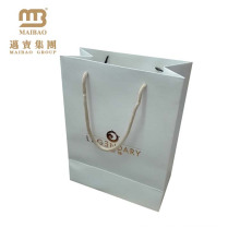 Laminated Small Carry Packaging Custom Famous Brand White Wedding Gift Paper Bags With Handles
