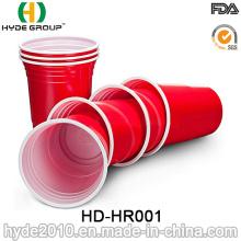Promotionnels jetables Double couleur Parti rouge Solo Cup