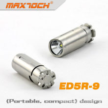 MAXTOCH ED5R-9 Stainless Steel 320 Lumens Cree LED Keychain Flashlight