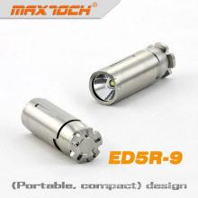 MAXTOCH inox ED5R-9 320 Lumens Cree LED chaveiro lanterna
