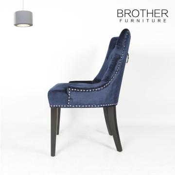 Vente chaude bleu capitonné antique loisirs hôtel chaise