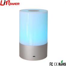Лучшие продажи в Amazon LED прикроватная лампа белого цвета с сенсорным экраном с регулируемым освещением RGB LED настольная лампа