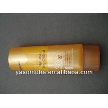Mignon tube en plastique ovale pour la crème solaire
