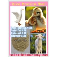 Comida de proteína de arroz (60% 65% 72%) Venta caliente