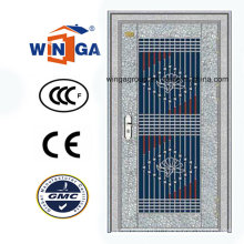 Porte d'entrée de sécurité en acier inoxydable 304 à chaud (W-GH-17)
