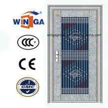 Porta de entrada de segurança de aço inoxidável de venda quente 304 (W-GH-17)