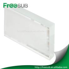 cristal blanc sublimation avec revêtement