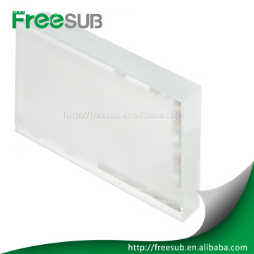 blank sublimation crystal with coating