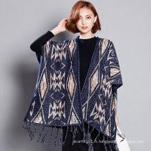 Châle de Fringe d'hiver tricoté par acrylique de mode de femmes de Viscose (YKY4527)