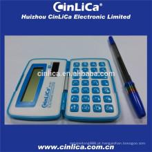 Calculadora de bolso dobrável tamanho mini