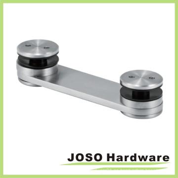 Abrazadera de acoplamiento ajustable de agujero de acero inoxidable cepillado