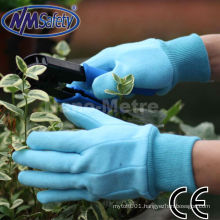 NMSAFETY blue cotton garden hand protection gloves