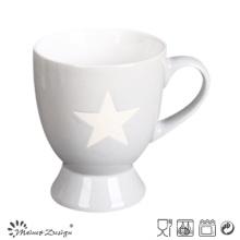 Tasse à pied de 8 oz avec motif étoile gravé