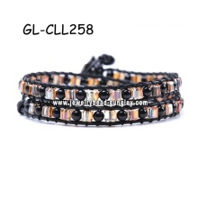 wrap bracelet crystal bracelet pearl bracelet