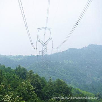 220kV Tipo de búho Línea ángulo Transmisión de potencia Torre de acero