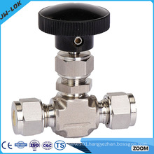 High pressure 1/2'' NPT double ferrule gas needle valve