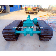 Sistema de material rodante de chassi de esteira de borracha para barco dumper com carregador de escavadeira de sistema hidráulico HST