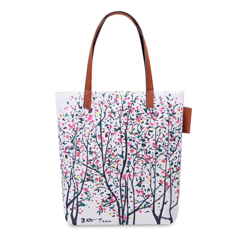 Vivid canvas tote bag