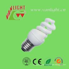 Compacta T2 completo espiral 8W CFL, luz ahorro de energía