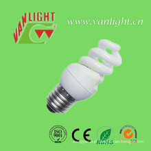 T2 compacto completo espiral 8W CFL, luz de poupança de energia