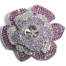 Fábrica de cores mulher flor broche encantos jóias