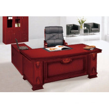 Table en bois grand format en bois avec forme L