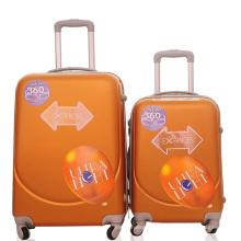 Barato cara sonriente maleta del equipaje de la carretilla del viaje del ABS